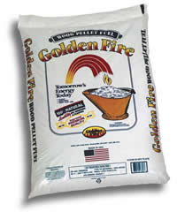 Golden Flame Pellets available at Lakeview Sanitation